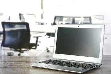 laptop in an office